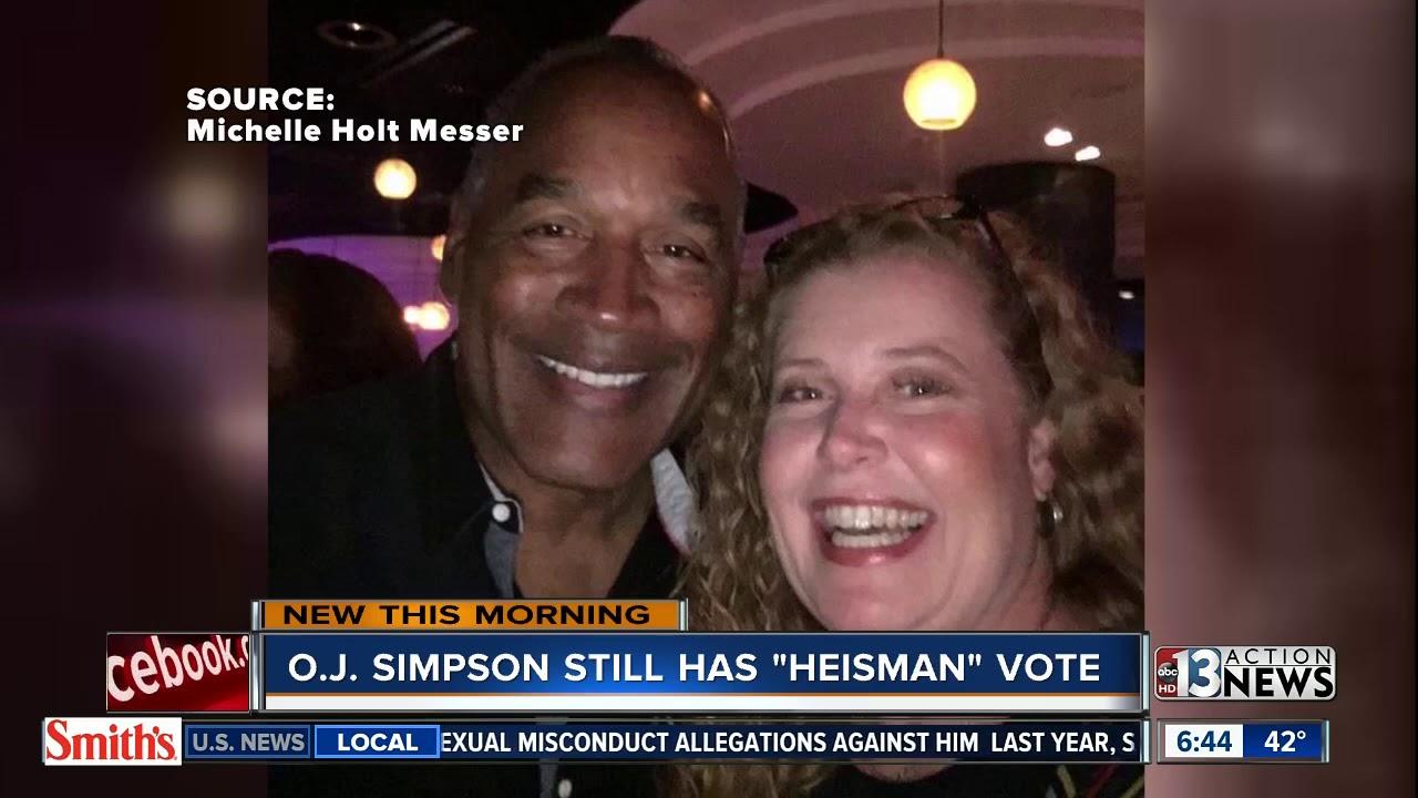 O J  Simpson will vote on next Heisman Trophy winner