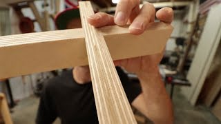 Making simple plywood shelves - How to cut accurate lap joints