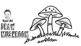 mushroom easy draw