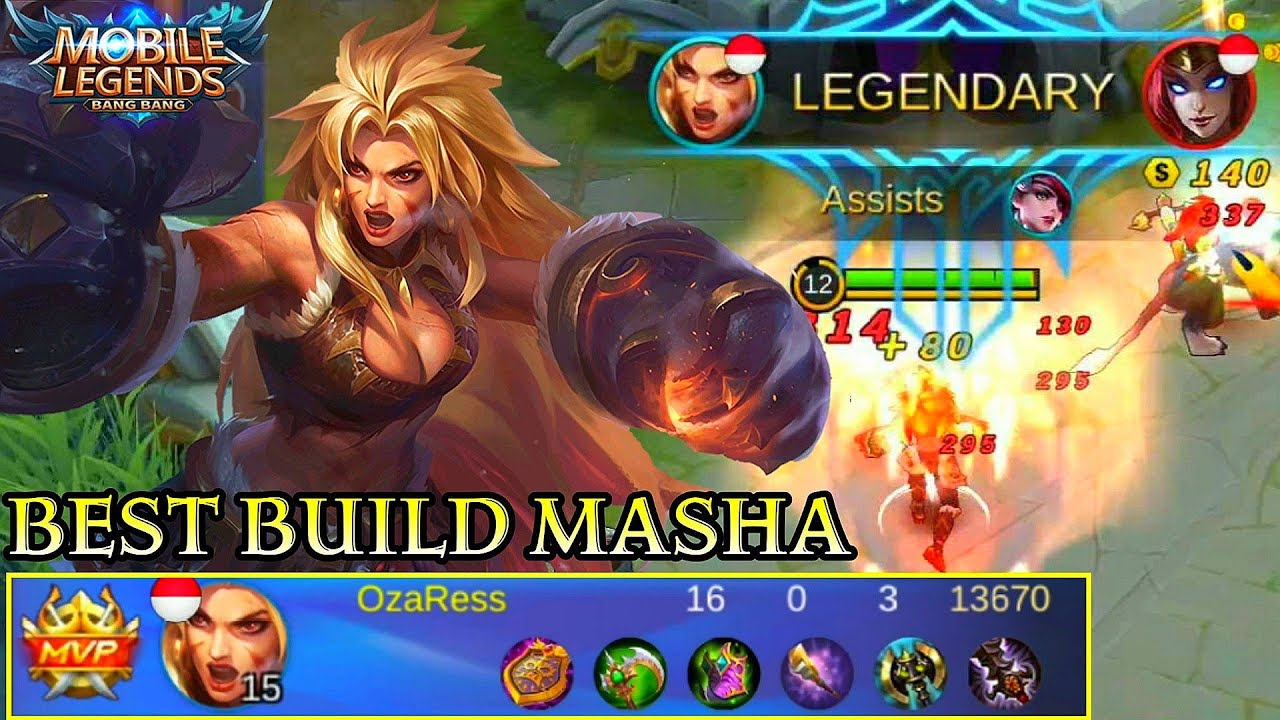 masha best build and skill combo - mobile legends bang bang