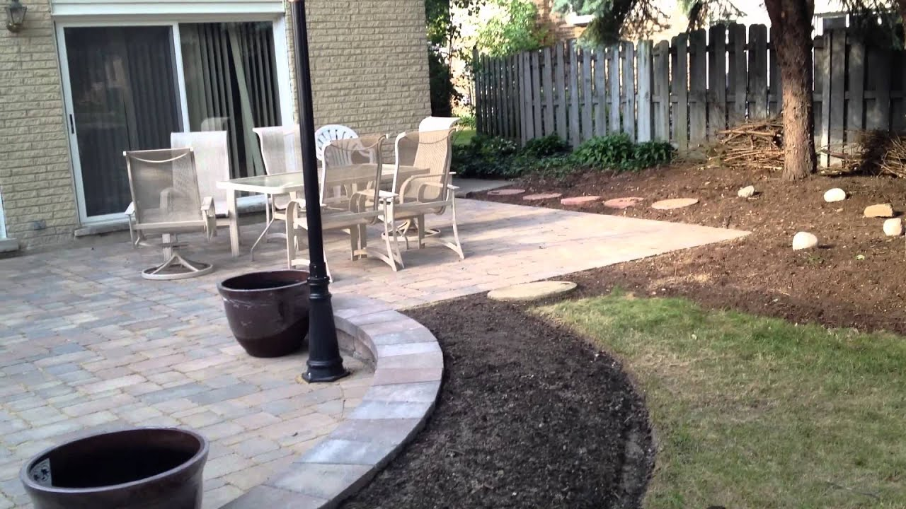 Archadecku0027s Patio Design With Gas Lamp Post In Arlington Heights, IL    YouTube