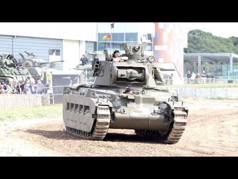 Tiger Day, British Ww2 Matilda Tank 4k Video
