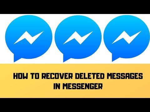 How To Recover Deleted Messages On Messenger 2019 || Restore Deleted Messages