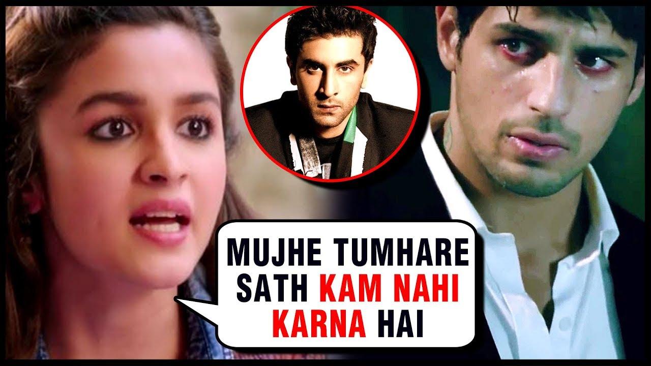 Image result for alia ignores siddharth Ranbir soty2