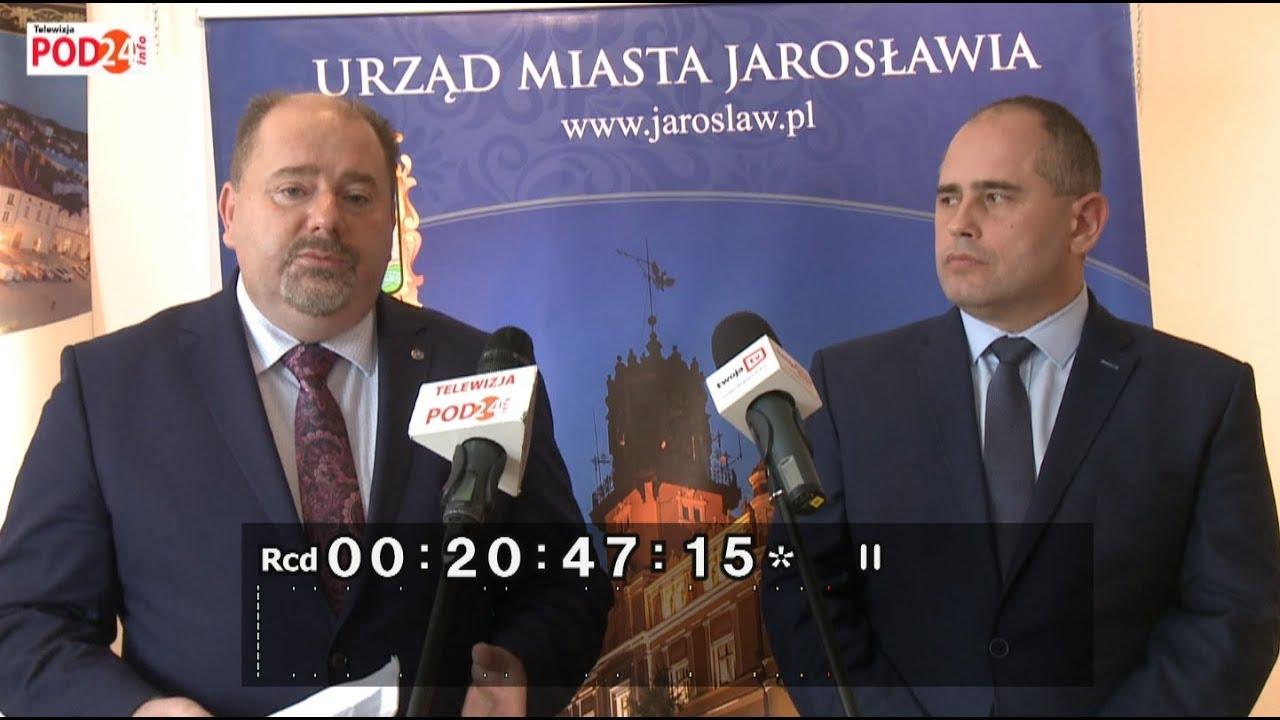 Konferencja prasowa poświęcona kwestii wydatków w CKiP w Jarosławiu