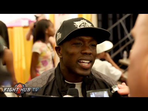 Andre Berto on Mayweather's power, not being cut & what surprised him about Floyd - Full video scrum