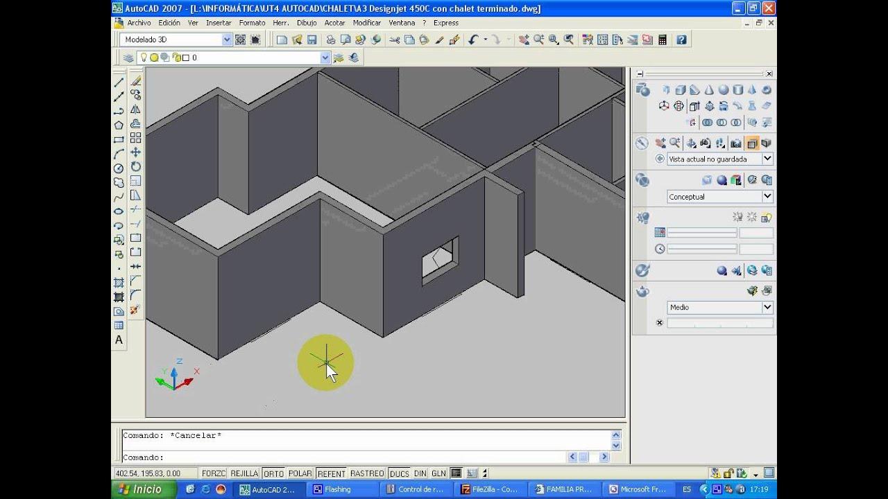 Curso De Autocad 3d Video 2a Ventanas Y Puertas 3d