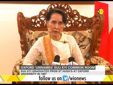 Students at Oxford University remove Aung San Suu Kyi