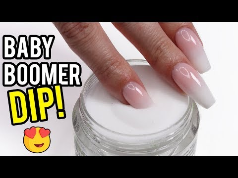 Using DIP POWDER For Baby Boomer Nails! - YouTube