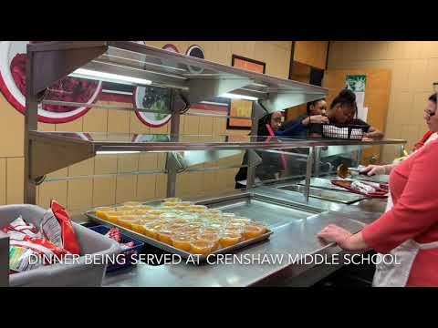 Dinner at Crenshaw Middle School