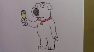 357 - How to Draw Brian Griffin from Family Guy