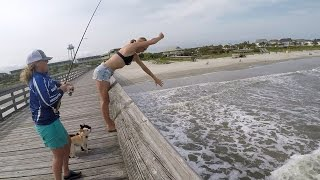 Fishing the Pier RIGHT BY THE SURF!!! Ft. KK Ambassadors (Give-Away included) (Isle of Palms, SC)