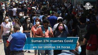 Con estas cifras, México se ubica como el cuarto país con más decesos, por detrás de Estados Unidos, Brasil e India