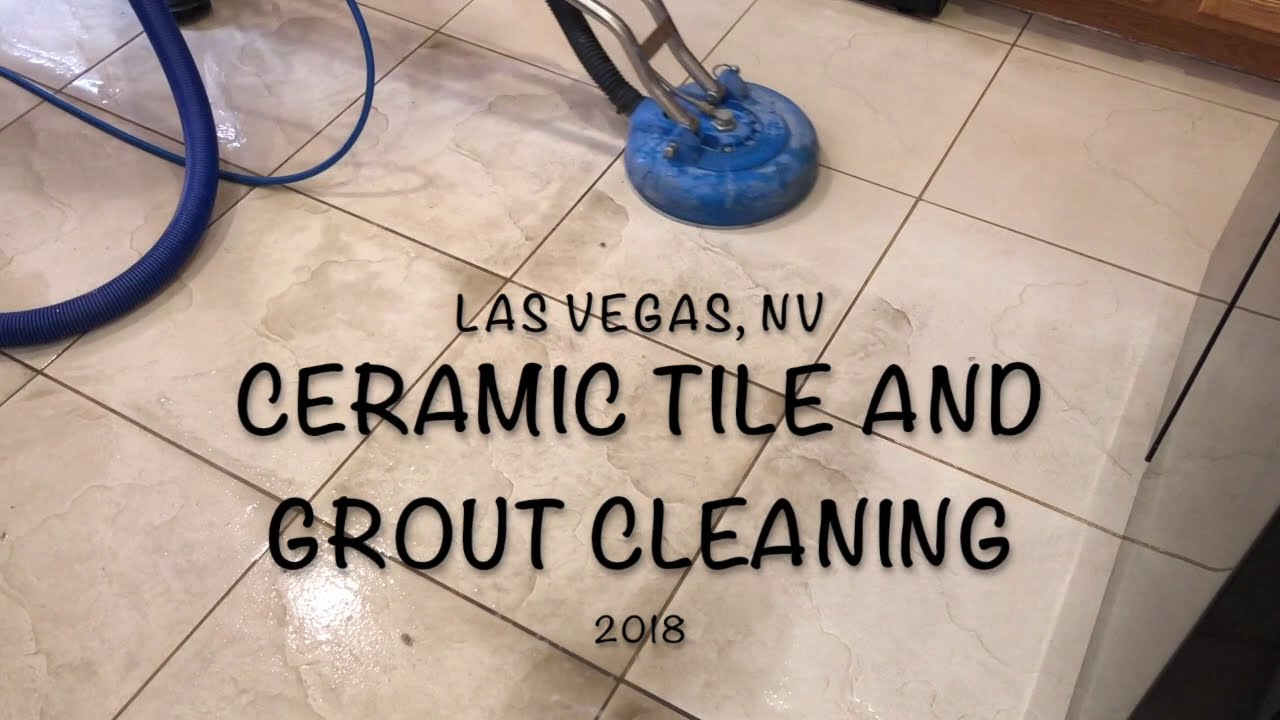 Ceramic Tile And Grout Cleaning Video Demo 2018 Youtube