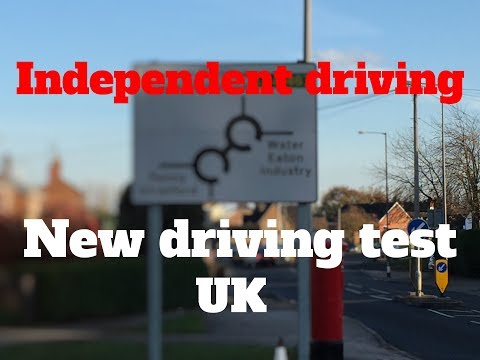 Independent driving.   New driving test