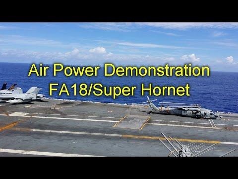 F-18 Super Hornet Flyby Demonstration