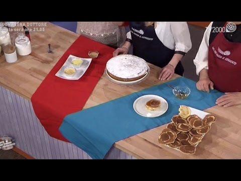 Torta paradiso con crema al latte, pancake americani e crema catalana