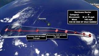 Hurricane Hector, a Category 4 storm, nears Hawaii