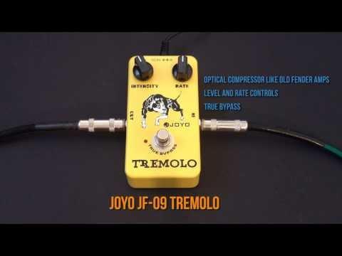 Joyo JF-09 Tremolo Pedal Review Demo