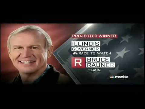 Chris Matthews and MSNBC Hosts go into shock after Illinois goes Republican - Election Night 2014