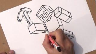 como dibujar a minecraft | como dibujar a minecraft paso a paso