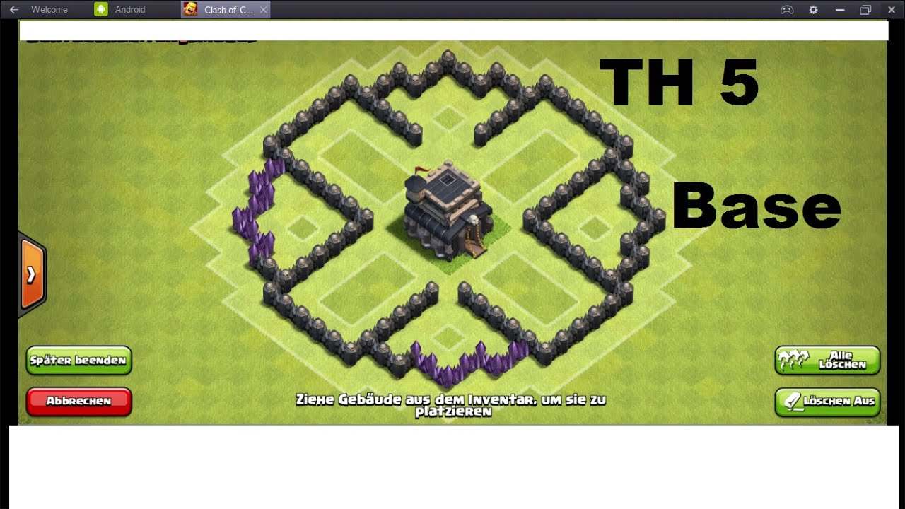 Best townhall 5 defense base th5 clash of clans youtube