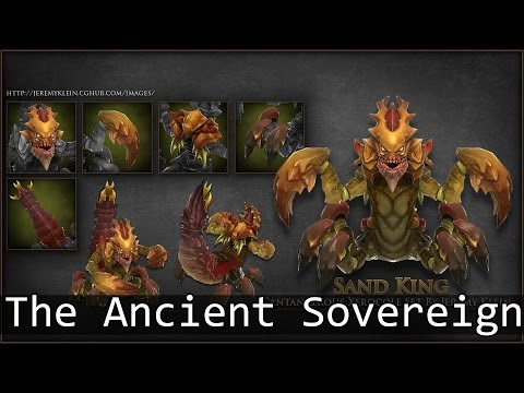 Dota 2 Items : Sand King - The Ancient Sovereign Set Review