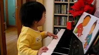 Jasmine - vocal and piano (2-yr old)