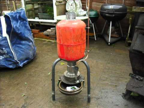How to make a waste oil Heater - YouTube