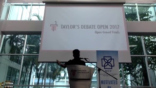 Taylor's Debate Open 2017 Grand Finals