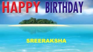 Sreeraksha   Card Tarjeta - Happy Birthday