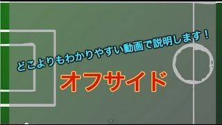 サッカーで唯一ややこしいルール オフサイドの説明を動画でしてみました...