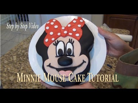 Cake DIY: Minnie Mouse Cake Tutorial ( Step by Step video)/ by Cup n Cakes Gourmet