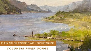 PAINT WITH A BIG BRUSH Rooster Rock State Park plein air with Jon Bradham
