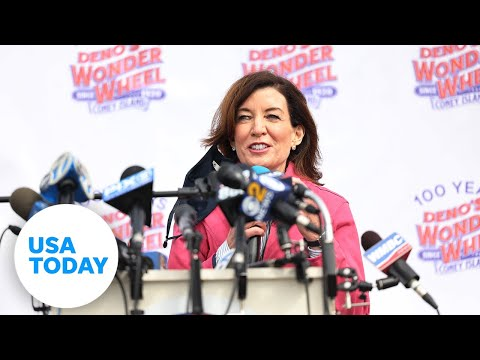 Kathy Hochul gives first remarks since Gov. Cuomo's resignation | USA TODAY