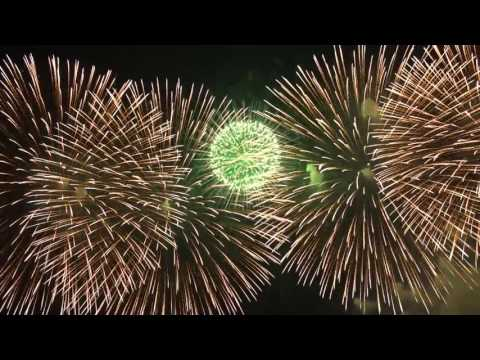 Tokyo, Japan - New Year's Eve Fireworks 2017, Celibrating Around The world Welcome 2017