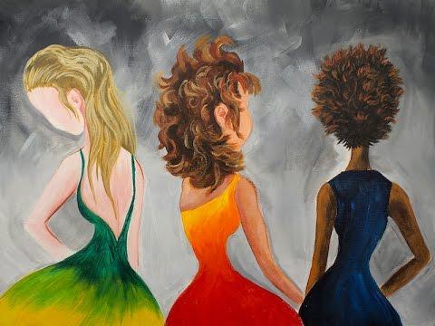 learn paint hair in acrylic
