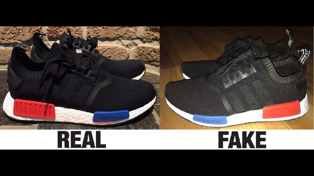 buy online 6243f a9138 How To Spot Fake Adidas NMD Trainers Sneakers Authentic vs Replica  Comparison