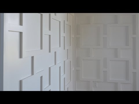Modern Wainscoting: A Pattern of Squares