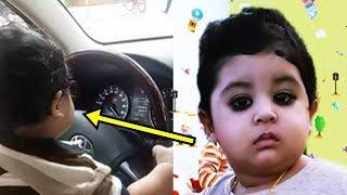 শাকিব খান জুনিয়র এর গাড়ি চালানোর ছবি নিয়ে তোলপাড় । shakib khan baby abram khan joy cute driver
