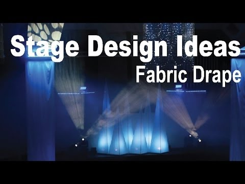 stage design ideas fabric drape - Stage Design Ideas