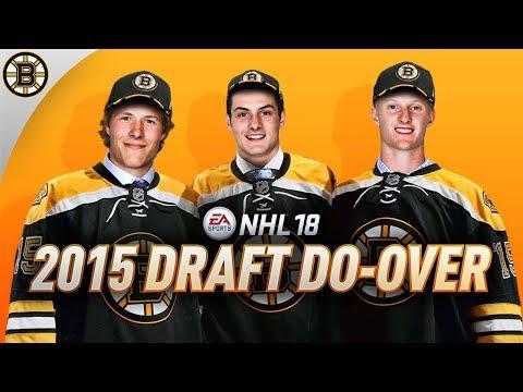 NHL 18 - BOSTON BRUINS 2015 DRAFT REDO