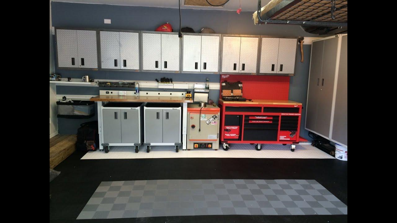 Garage Remodel with Gladiator Garageworks cabinets and 60