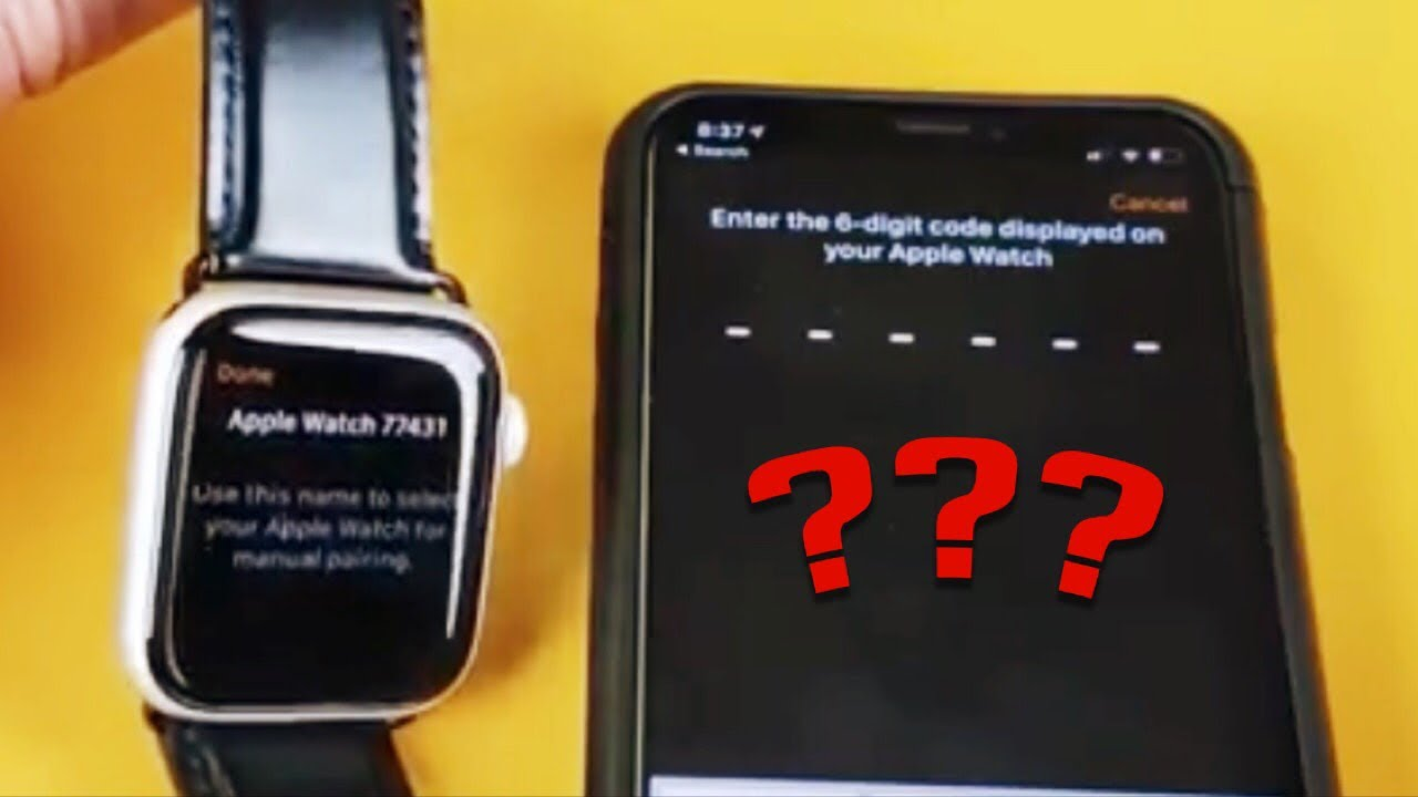 Apple Watch Series 1,2,3,4: Missing 6 Digit Code to Pair - Simple Fix