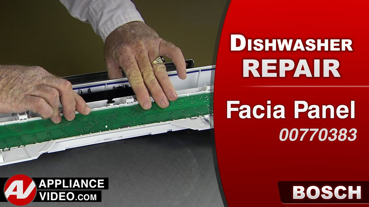 Bosch Dishwasher Facia Panel Repair Youtube