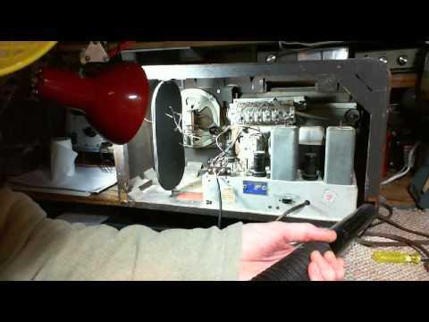 General Electric KL-70 AM/SW Radio Video #3 - Asbestos Removal