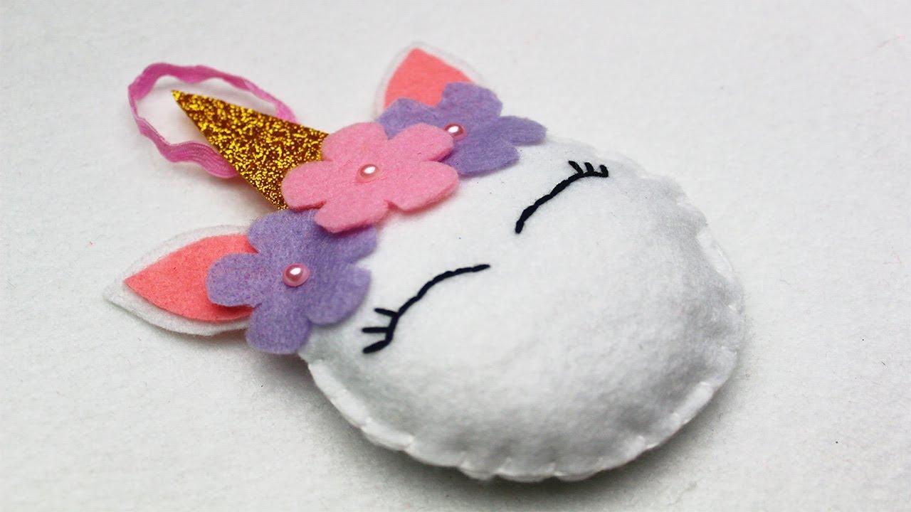 Como hacer adornos de unicornio con fieltro paso a paso - Adornos con fieltro ...