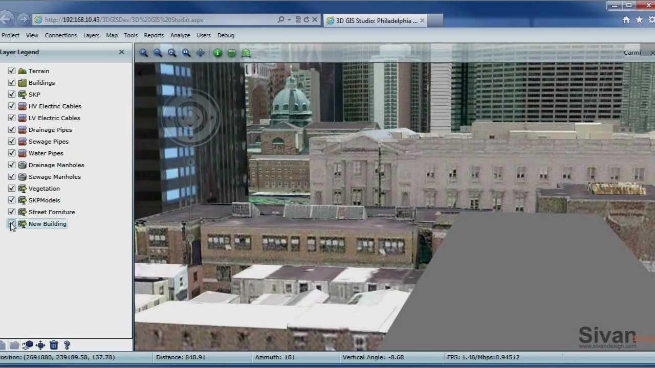 3D GIS in the Cloud - Sivan Design