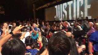 The Justice League enters Hall H at SDCC!