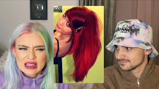 reacting to all of my hair colors and rating them